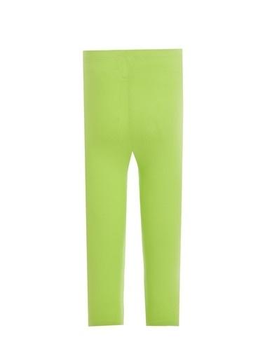 DeFacto Kız Çocuk Slim Fit Kapri Boy Tayt Yeşil